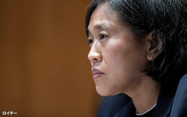米通商代表部(USTR)のキャサリン・タイ代表は、新型コロナワクチンの特許放棄に関して利害関係者と議論をしてきた=ロイター