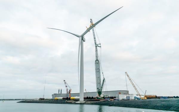 東芝と米GEは洋上風力発電事業で提携すると正式合意した(GEの洋上風力発電機)