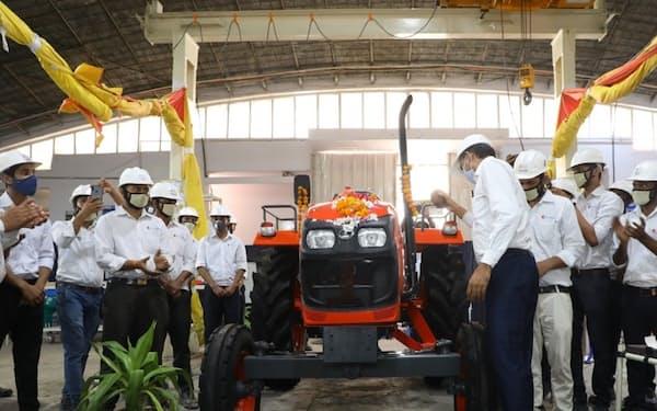 クボタが現地企業と合弁で設立したトラクターの製造拠点(2020年9月)