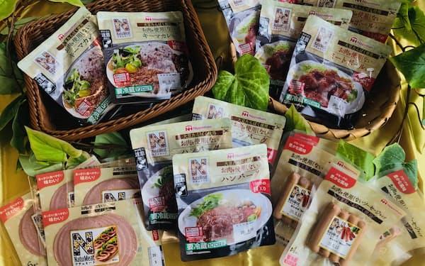 肉を使用しない商品も増やしている