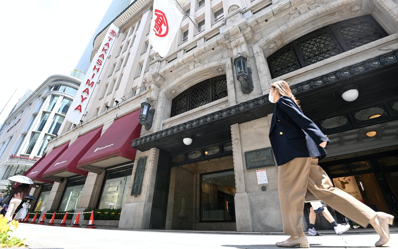 高島屋は都内の店舗で営業する売り場を拡充する(2021年4月24日、東京都中央区)