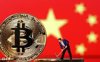 業界推計では世界の仮想通貨のマイニングの5割から6割強が中国で実施されている=ロイター