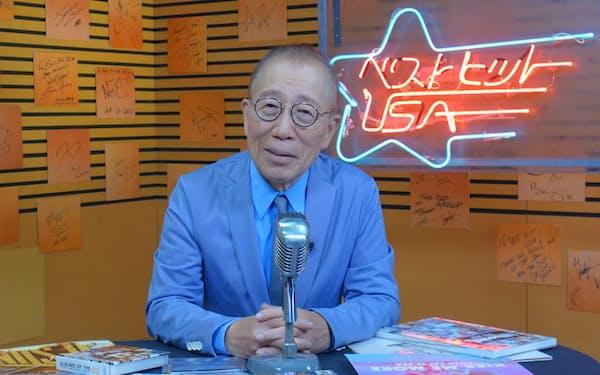 小林克也氏を司会に変わらぬスタイルを貫く「ベストヒットUSA」(東京・六本木の収録スタジオ)