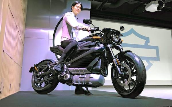 ハーレーダビッドソンが2020年12月に日本で発売した初の電動バイク「ライブワイヤー」