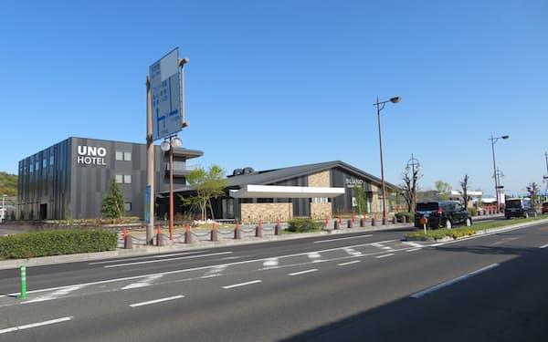 7月1日の開業予定のUNO HOTEL