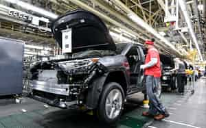 半導体など重要部品を供給網全体で管理できる仕組みを検討している(米ケンタッキー州の工場)