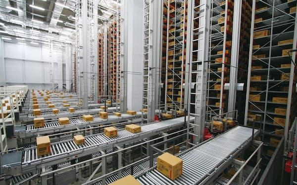 海外の食品メーカーで稼働するダイフクの自動倉庫