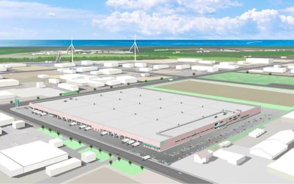 ニトリは北海道石狩市に新たな物流倉庫を建設する(イメージ)