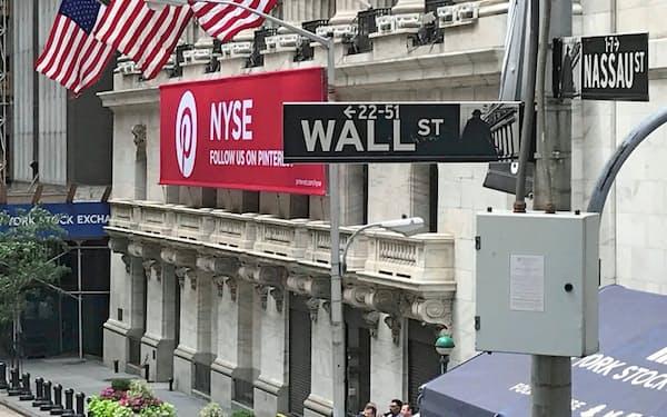 ニューヨーク取引所外観(2018年7月撮影)