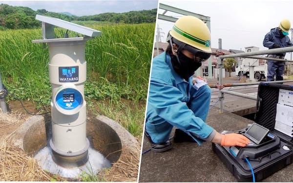 クボタは水関連事業でAIやIoTの活用を進めている(写真提供:左はクボタ)
