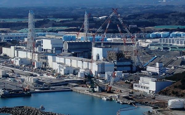 事故で放射性セシウムが放出された東京電力福島第1原子力発電所