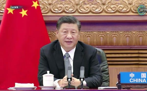 中国の習近平国家主席(4月22日、北京市)=共同