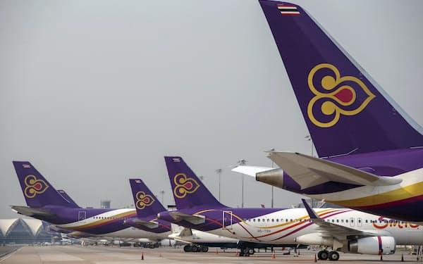 タイ国際航空は2020年5月に経営破綻した=ロイター