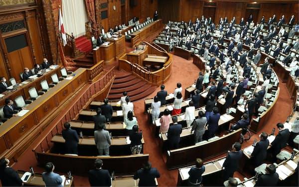与党と立憲民主党などの賛成多数でデジタル改革関連法が可決、成立した参院本会議(12日午後)