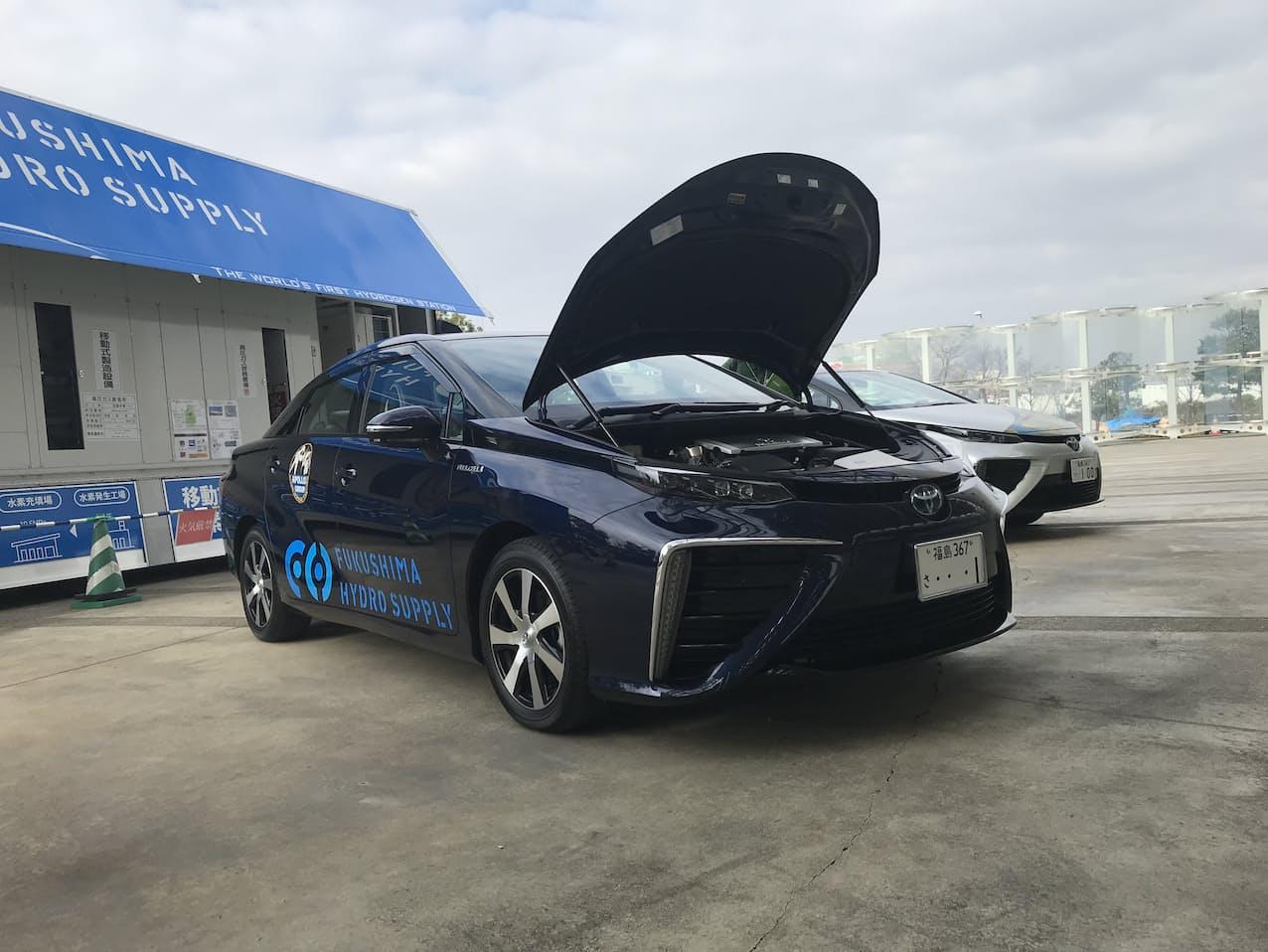燃料電池車の普及を目指す(福島県郡山市)