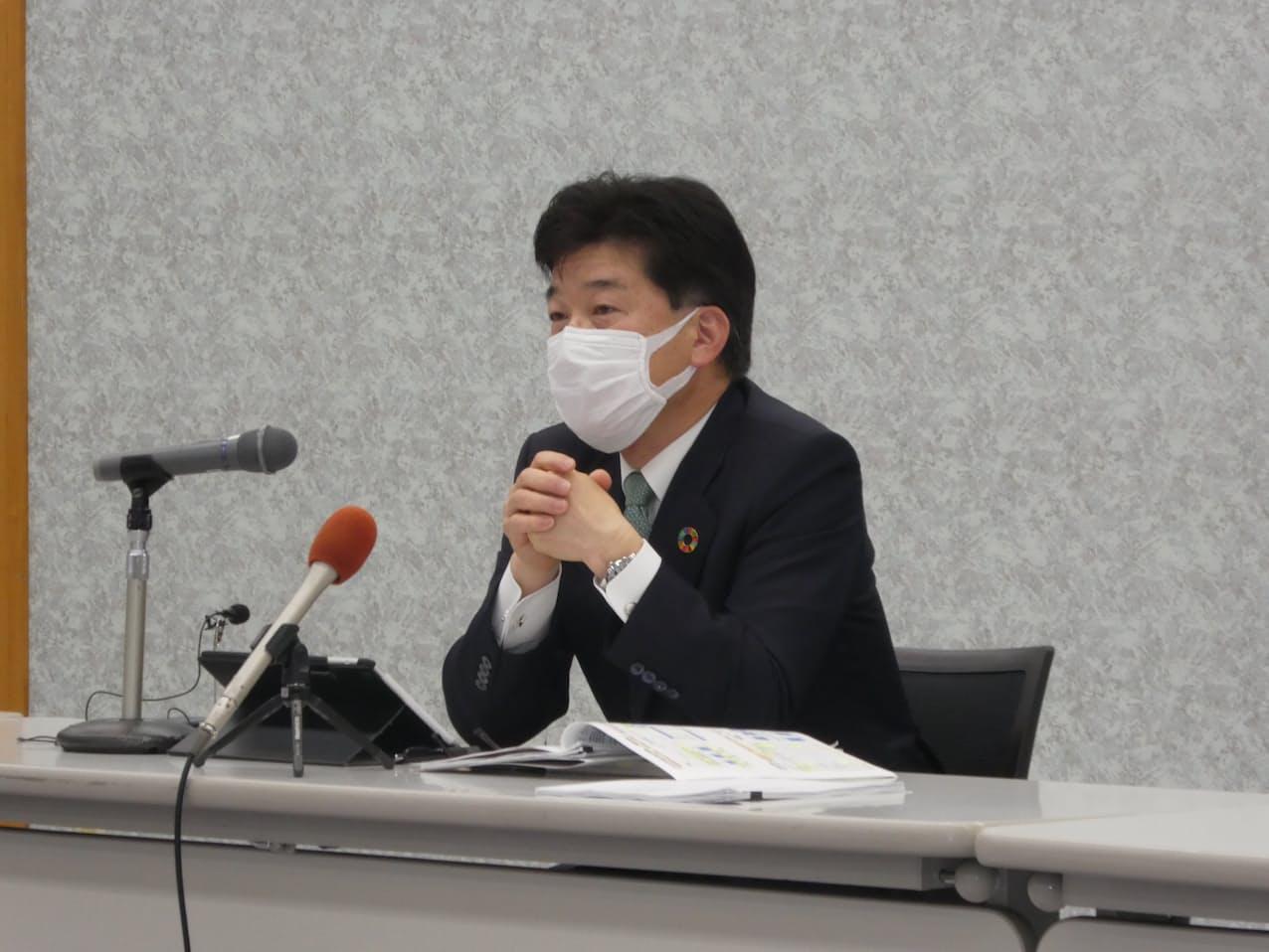 「地域の雇用を守りたい」と語る柴田頭取