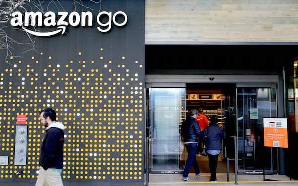 米アマゾンもレジなし店舗の関連技術を公開するなどオープンソースの手法を活用している(米シアトルのレジなし店舗「アマゾン・ゴー」)