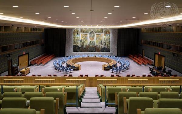 国連安保理はイスラエルとパレスチナの交戦を受け緊急会合を開いた=国連提供