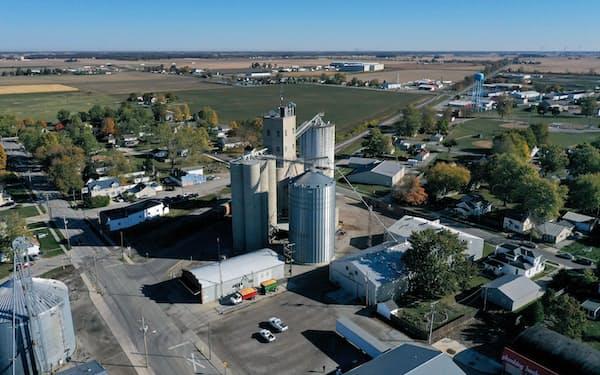 米インディアナ州の穀物倉庫=ロイター