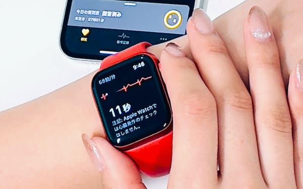 約30秒で心電図を記録できる=慶応義塾大学病院・木村雄弘氏提供
