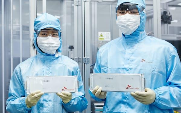 SKイノベーションはLG化学への和解金負担が重く、最終赤字が続いた(SKの電池工場)