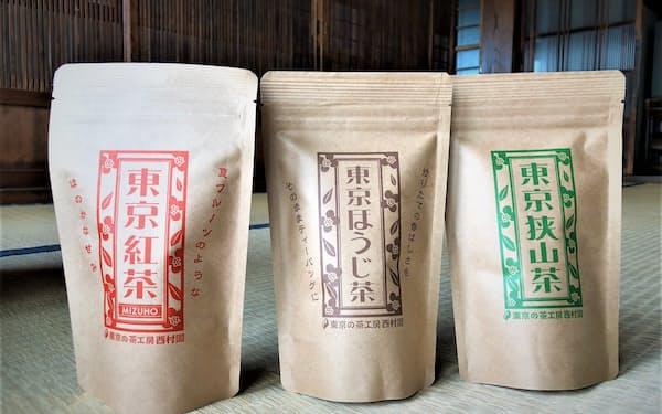 「東京」を前面に出した「東京の茶工房 西村園」の商品