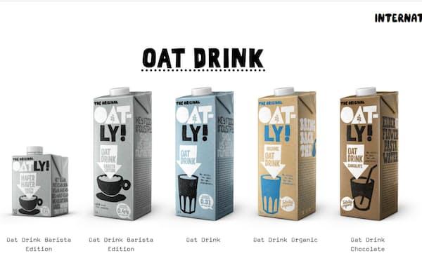 牛乳代替品として人気のあるオーツ麦ミルク「Oatly(オートリー)」