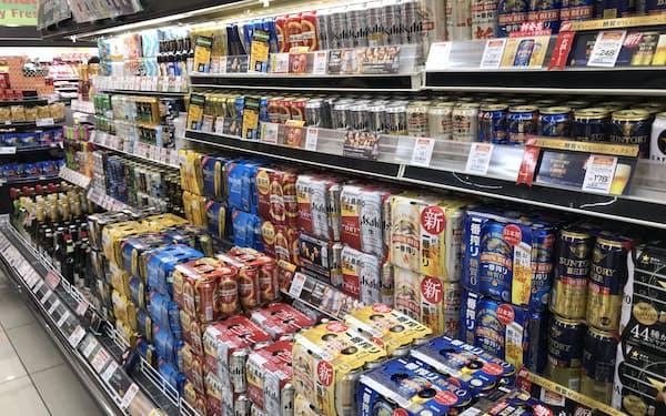 都内のビール売り場