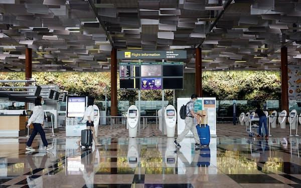 クラスターが発生したチャンギ空港=ロイター