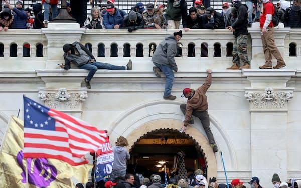 1月の議事堂襲撃事件ではこれまで400人以上が訴追された=ロイター