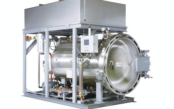 サムソンは、レトルト食品を製造する際に使われる調理殺菌装置などを生産している