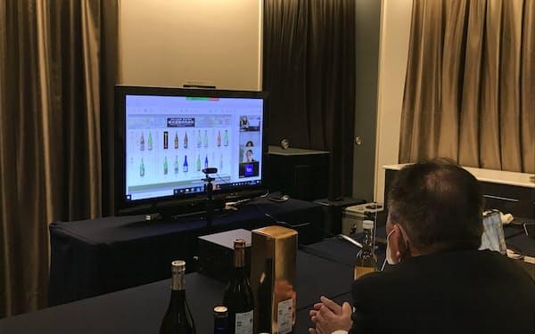 茨城県は食品輸出のオンライン商談に力を入れる(3月に水戸市で開いた商談会)