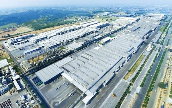 スズキは17日、インドの四輪工場を再開(写真はマネサール工場)