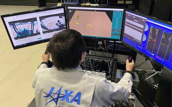鹿島とJAXAは3月に相模原キャンパスから遠隔操作を実証した