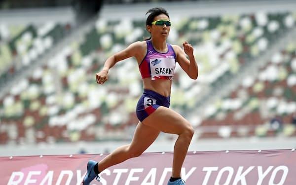 東京パラリンピックに向けた陸上のテスト大会に参加した佐々木真菜。クラス分けによる出場資格をまだ得られてない。(11日)