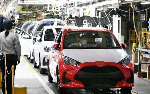 トヨタ自動車東日本岩手工場で生産される「ヤリス」