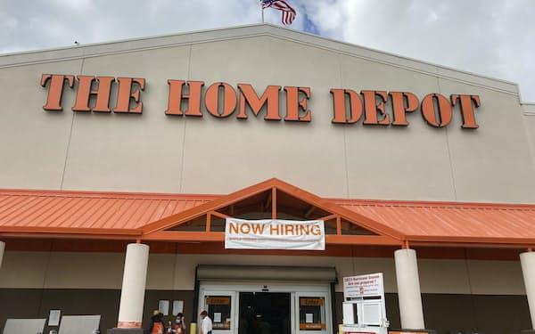米ホーム・デポの2~4月期の既存店売上高は31%増を記録した(2月、フロリダ州マイアミの店舗)=AP