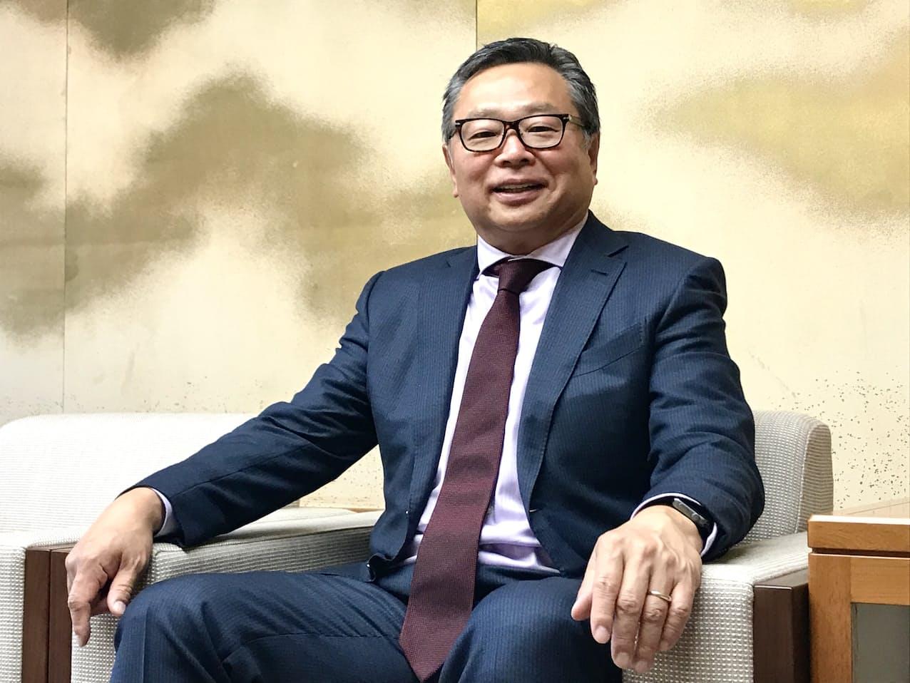 氏家俊明社長は「ONE TADANO」が業績回復のカギを握ると強調する