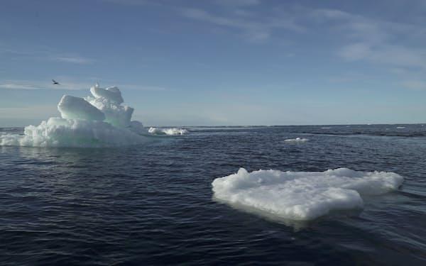 北極海の氷は年々減少している(2020年9月)=ロイター