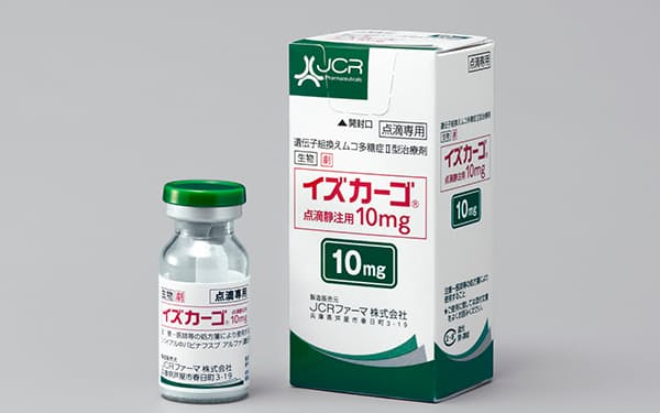 JCRファーマが発売した希少疾患「ハンター症候群」の治療薬