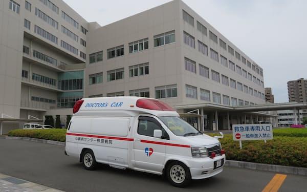 心臓病センター榊原病院で出動が続くドクターカー(岡山市)