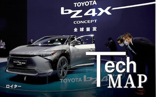 トヨタ自動車は多くの特許を出願している(2021年の上海モーターショーでのコンセプトEV)