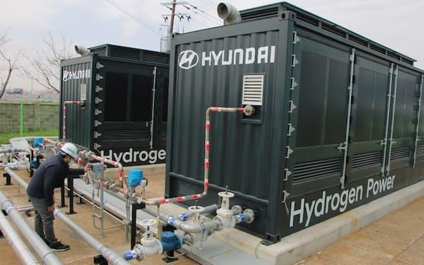 現代自動車は燃料電池を使った発電システムの開発を進める(蔚山市)