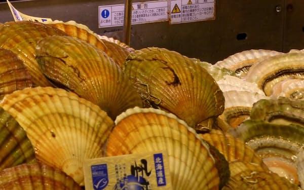 北海道産のホタテ貝は海外でも人気がある