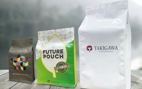 タキガワ・コーポが開発したリサイクル可能な包材