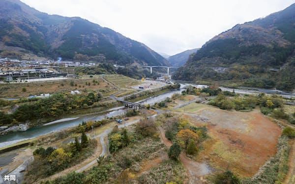 川辺川ダム建設による水没予定地周辺=19日午後、熊本県五木村