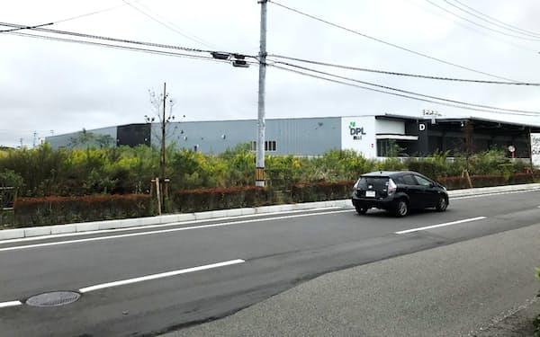大和ハウスのDPL郡山Ⅰ。左が第2物流施設の予定地(福島県郡山市)