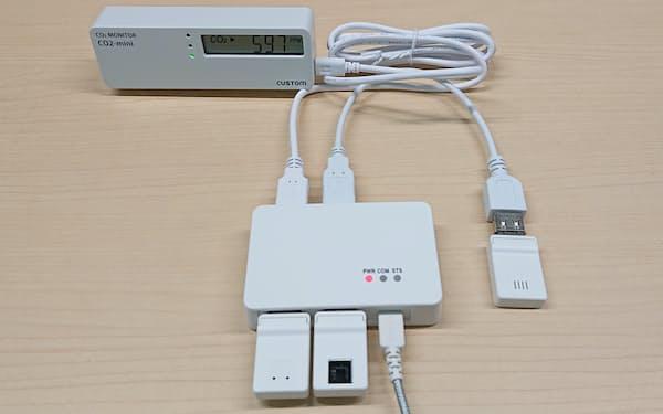 小型のセンサーを使ってCO2濃度から換気のタイミングなどを知らせる