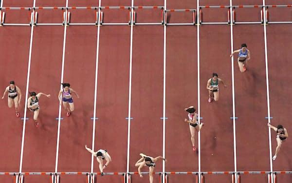 今月9日、国立競技場で行われた陸上の東京五輪テスト大会
