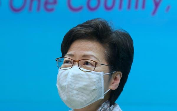 香港政府は台湾を厳しく批判する声明を出した(林鄭月娥・行政長官)=AP